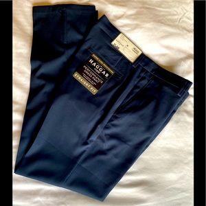 NWT Men's Haggar Navy Dress Pants Slacks 32/32